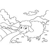 Sheep Colouring Pages vector. Image of Sheep Colouring Pages vector outline Royalty Free Stock Photos