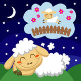 Sheep Counting Sheep Stock Image
