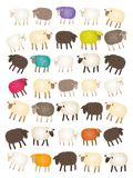 Sheep counting Royalty Free Stock Photography