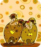 Sheep Cuple royalty free stock image