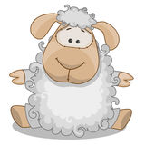 Sheep. Cute Sheep isolated on a white background Royalty Free Stock Photo