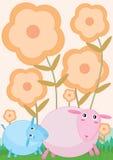 Sheep_eps bonito ilustração royalty free