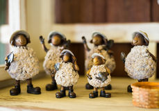 Sheep family statue Stock Images