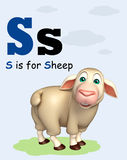 Sheep farm animal with alphabet Stock Images
