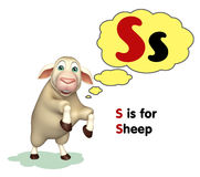 Sheep farm animal with alphabet Royalty Free Stock Photo