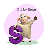 Sheep farm animal with alphabet Royalty Free Stock Image