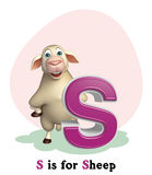 Sheep farm animal with alphabet Stock Photos