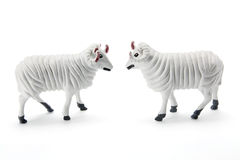 Sheep Figurines. On White Background Royalty Free Stock Photography