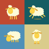 Sheep in flat color style Royalty Free Stock Photos