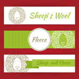 Sheep Fool and Fleece Concept Hand Drawn Style Vector Template B Royalty Free Stock Photography