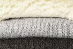 Sheep fur and mohair pullovers Royalty Free Stock Photo