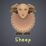 Sheep on a gray background Royalty Free Stock Photo