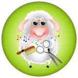 Sheep_hairdresser Fotografia de Stock