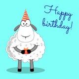 Sheep. happy birthday. Royalty Free Stock Photo