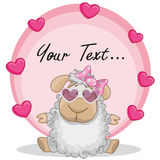 Sheep with hearts Stock Photo