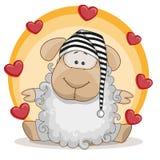 Sheep with hearts Stock Photos