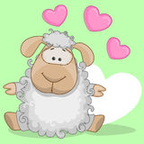 Sheep with hearts Stock Images