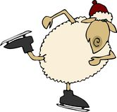 Sheep on Ice Royalty Free Stock Image