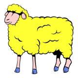 Sheep icon cartoon Stock Images