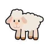 Sheep icon. cute animal design. Vector graphic Stock Photo