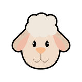 Sheep icon. cute animal design. Vector graphic Royalty Free Stock Image