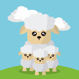 Sheep icon design Royalty Free Stock Image
