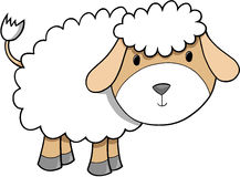 Sheep Illustration. Cute Lamb Sheep Vector Illustration Royalty Free Stock Photo
