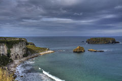 Sheep Island, Antrim Coast, Norther Ireland. Sheep Island, North Antrim Coast, County Antrim, Northern Ireland. The Antrim Coast is one of the most popular royalty free stock image