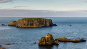 Sheep Island, Northern Ireland. Sheep Island, North Antrim Coast, County Antrim, Northern Ireland stock photo