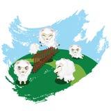 Sheep Jumping Royalty Free Stock Photography