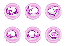 Sheep labels Stock Photo