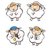 Sheep and lamb. Four funny cartoon style sheep and lamb Stock Image