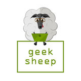 Sheep with laptop Stock Photography