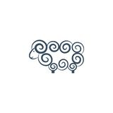Sheep. Logo design on a white background Royalty Free Stock Images