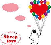 Sheep love Royalty Free Stock Photography