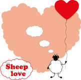 Sheep love Stock Images