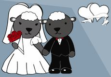 Sheep married cartoon background Royalty Free Stock Photography