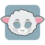 Sheep mask for festivities Royalty Free Stock Photo