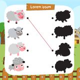 Sheep matching game vector design