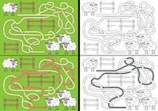 Sheep maze Royalty Free Stock Image