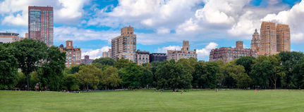 The Sheep Meadow in Central Park, New York City Royalty Free Stock Photo