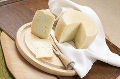 Sheep milk cheese Stock Photo