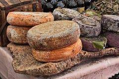 Sheep milk cheese from Sardinia, Italy Stock Photo