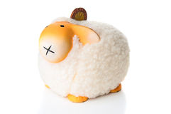 Sheep moneybox. On white background Stock Image