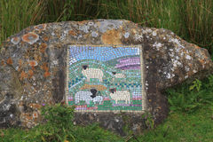 Sheep mosaic, North Yorkshire Royalty Free Stock Images