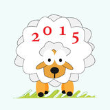 Sheep New Year 2015. Royalty Free Stock Images
