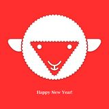 Sheep. New year card. Vector illustration. Sheep. New year card. Vector background. Vector illustration Royalty Free Stock Photos