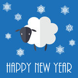 Sheep. 2015 New Year vector illustration with cute sheep Royalty Free Stock Image