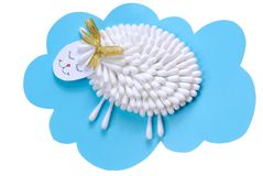 Sheep out of paper Stock Images