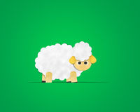 Sheep Paper Clipart Royalty Free Stock Photo